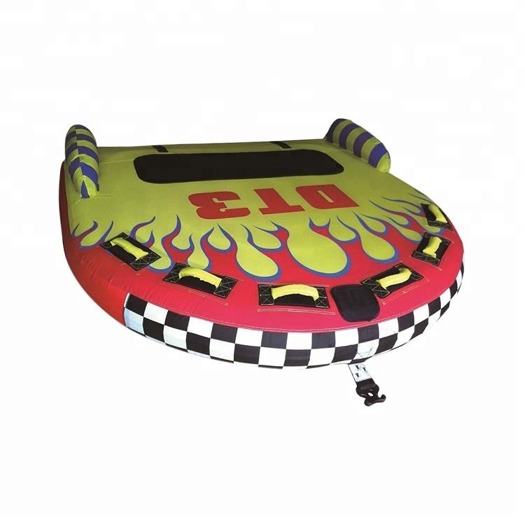 थोक 2 या 3 सवार Inflatable Towable ट्यूब झील <span class=keywords><strong>के</strong></span> लिए <span class=keywords><strong>पानी</strong></span> <span class=keywords><strong>के</strong></span> <span class=keywords><strong>खेल</strong></span>