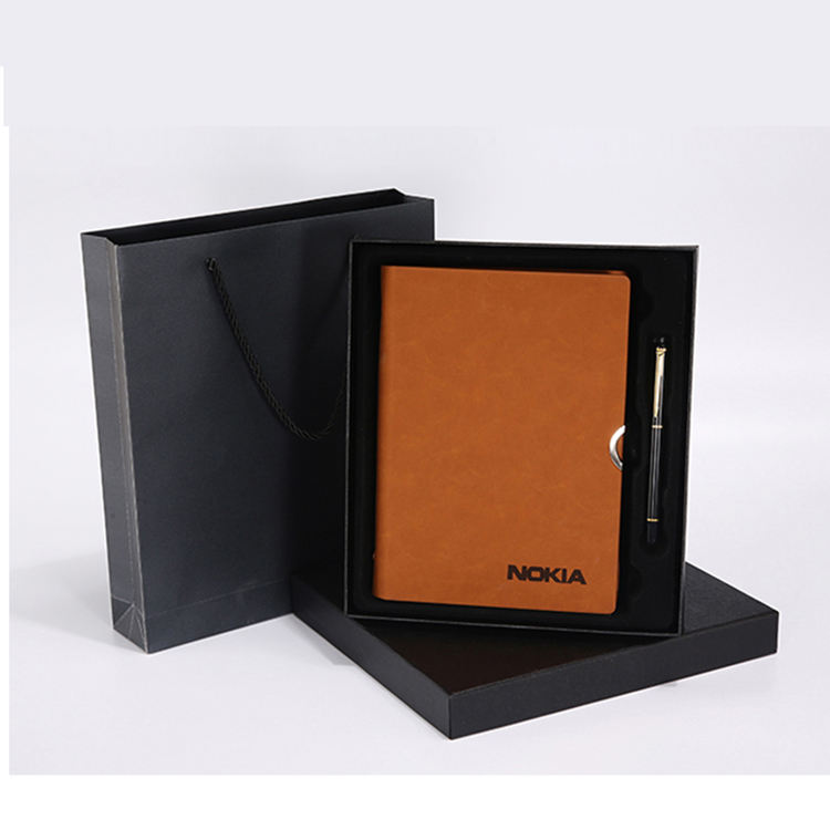 Wholesale business agenda note book personalized agenda book PU leather dairy book with pen