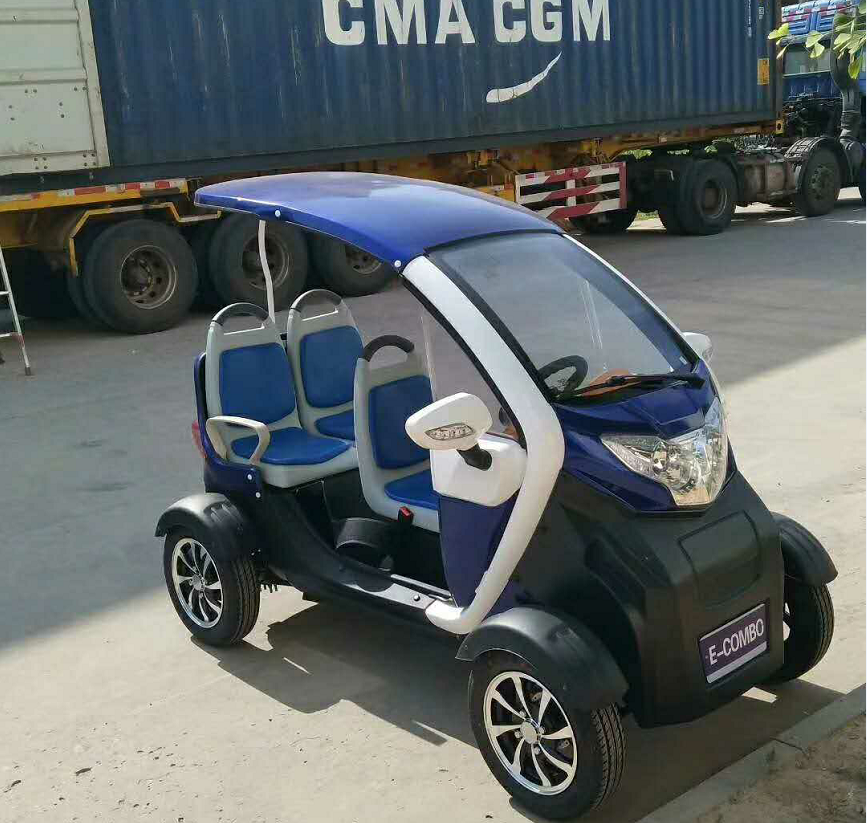 Electric four-wheel three-seater sightseeing car mini golf cart