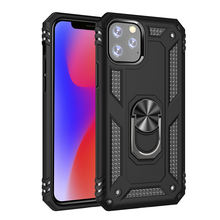 Magnetic TPU PC Phone Case Cover for iPhone, Phone Shell with Holder Stand 3 in 1 for iPhone 11 Case