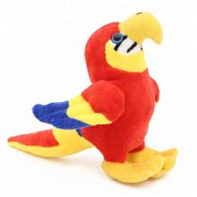 OEM colorful stuffed animal lovely kids bird plush parrot toy