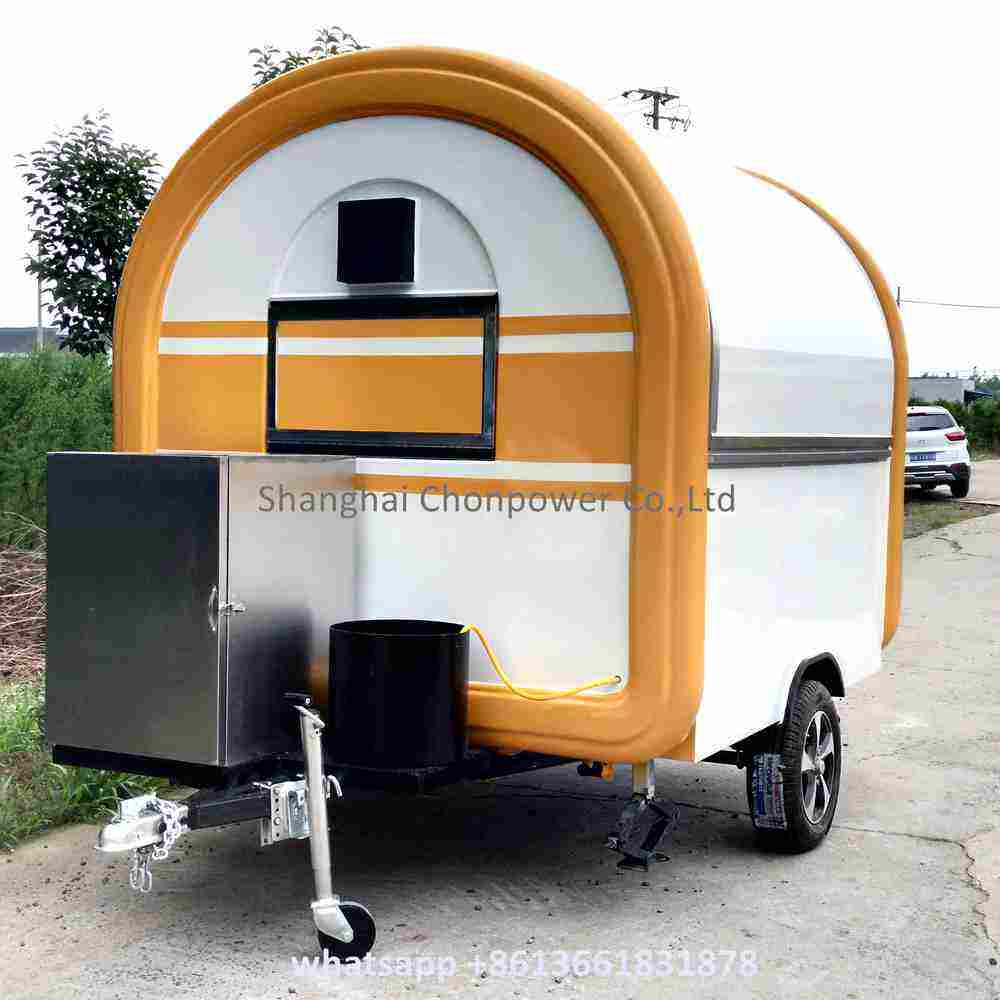 New Style snack cart food truck mobile kitchen mall kiosk sold Europe