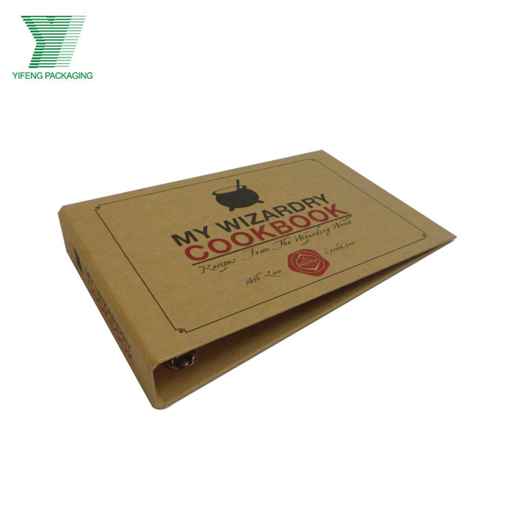 A4 A5 A3 Custom Design Size Professional Eco-Friendly Kraft Paper Lever Arch File Stationery 3 Ring Binder File Folder