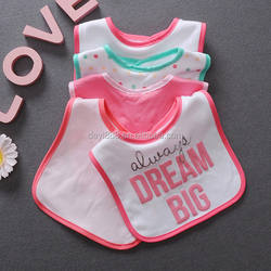 High quality baby 100% organic cotton bibs double layers waterproof bibs