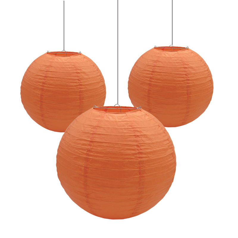 Small wholesale Amazon Ebay 8 inch Round Paper Lanterns Handmade Paper Crafts
