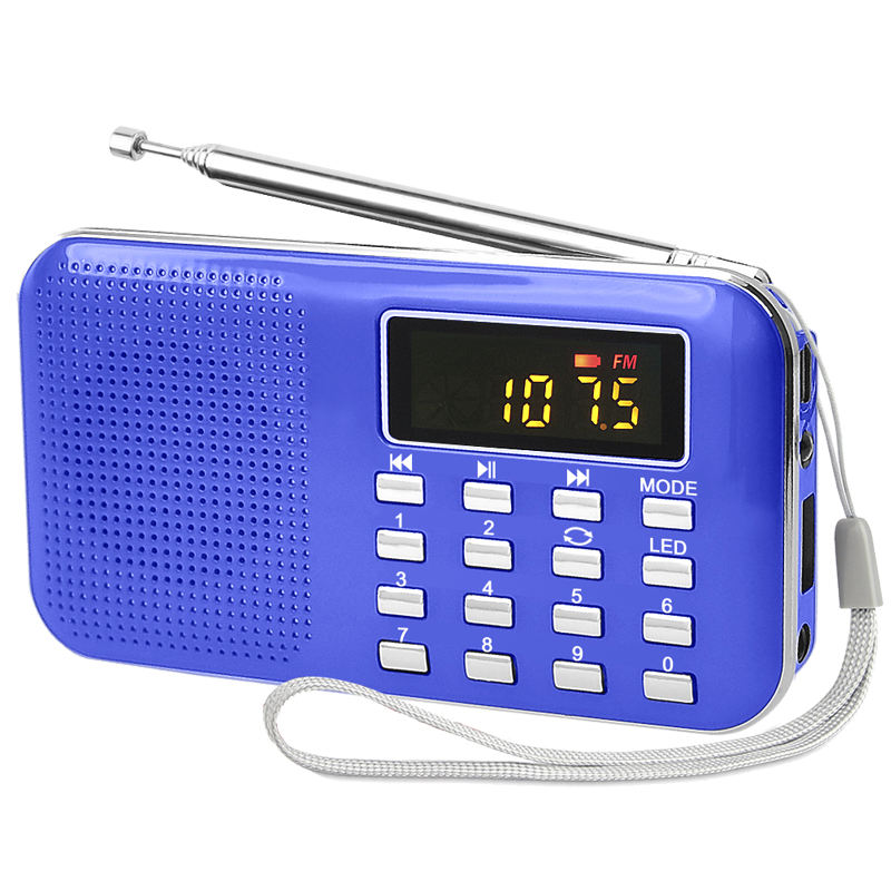Bolso pequeno usb speaker rádio fm sd MP3 player com lanterna