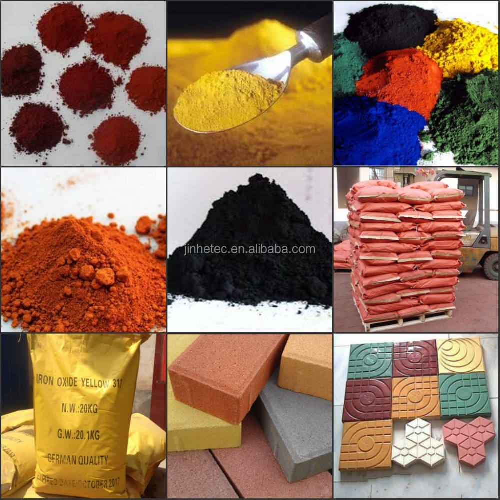 colorful pigment iron oxide red/yellow/green/blue/black/orange/brown