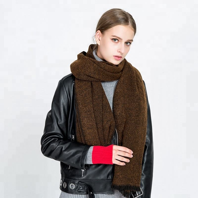 2020 Autumn Winter New Double Sided Solid Color Wool Cashmere Long Plain Pashmina Scarf Scarves Wholesale