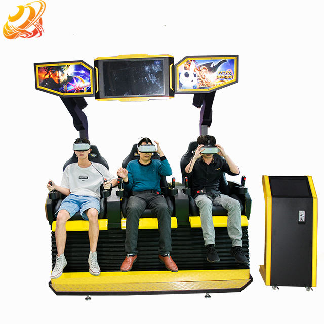 Motion Cinema 9D VR Chair 3 Seats Electric System 7D Theater 5D Game Machine Amusement Park