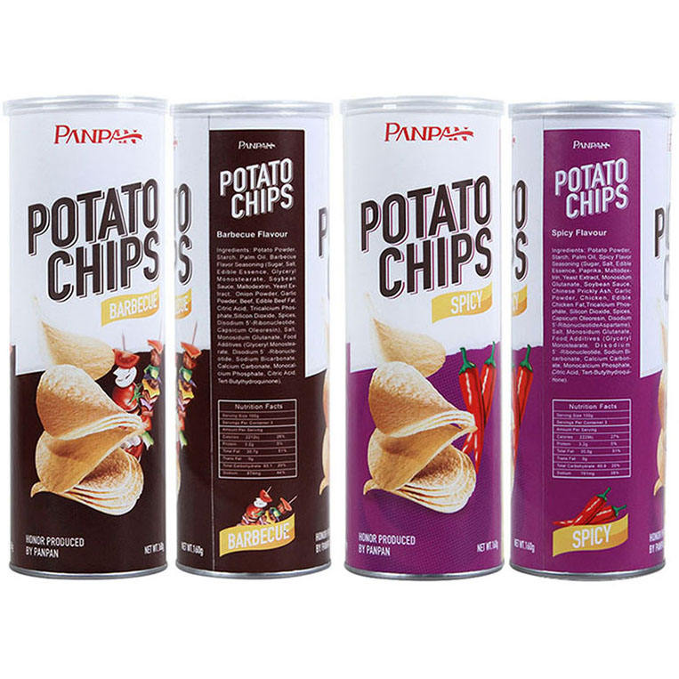 Panpan turkish food wholesale canned pack potato chips