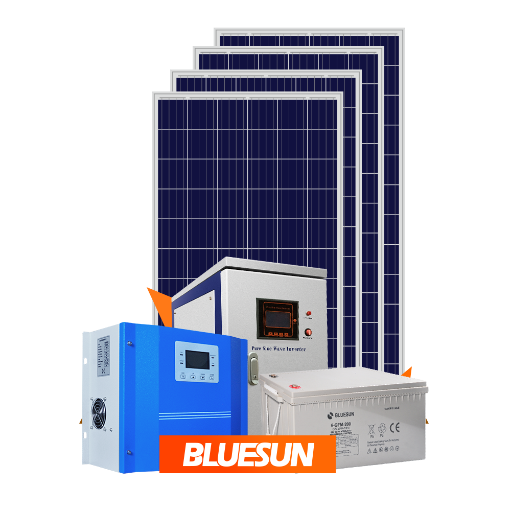 off grid home solar system 5KW 12V 250AH Batteries solar panels 5000 watt solar power system WITH MPPT Inverter
