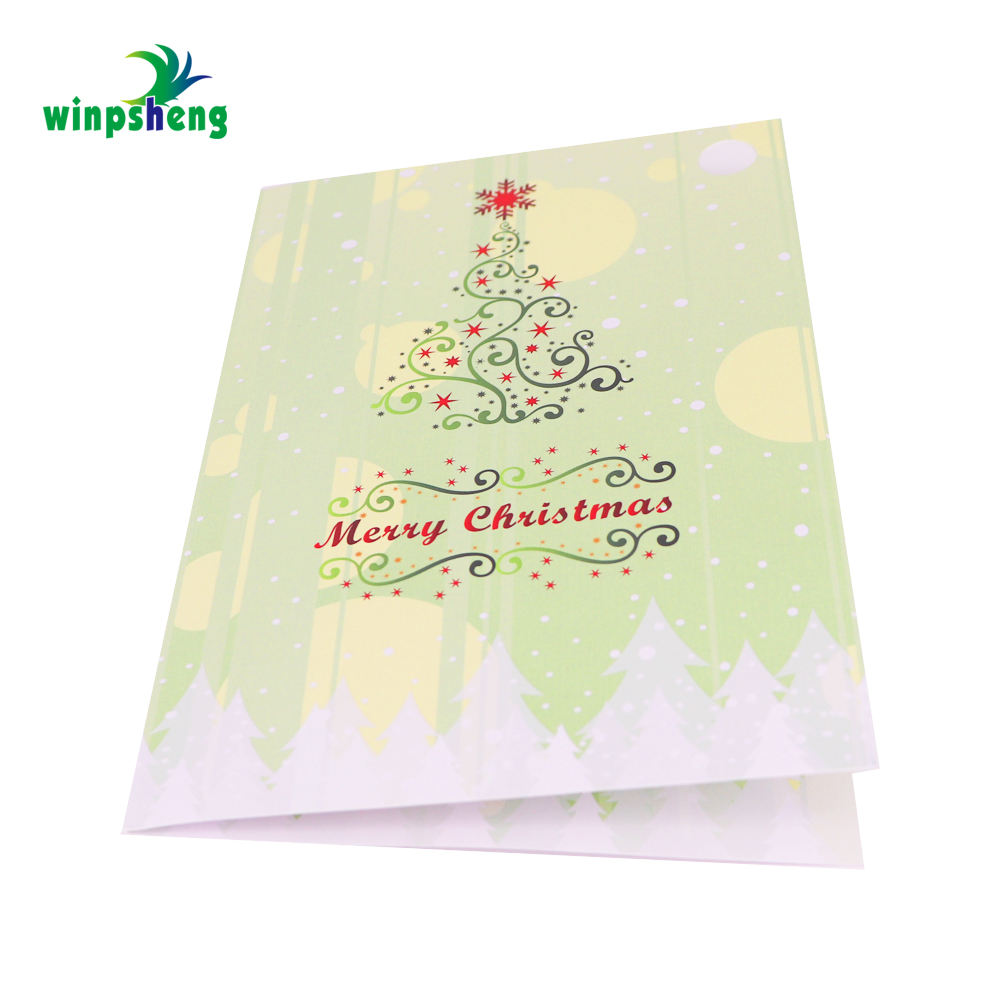 pop up present and tree christmas greeting cards