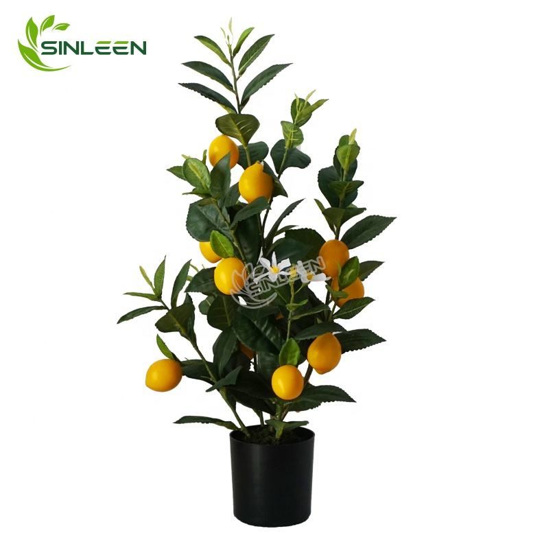 2020 Wholesale Lifelike Artificial Fruit Colorful Plant Plastic Lemon Tree