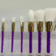 6pcs pink glitter cosmetic makeup brush set kryolan with crystal handle
