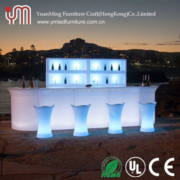Brillante De club nocturno bar muebles iluminado led bar