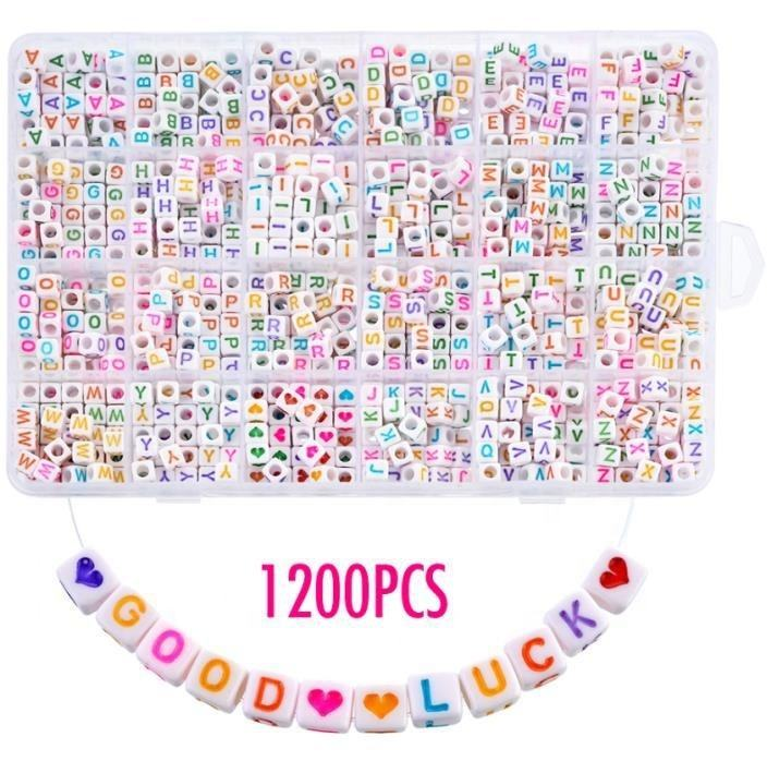 MO-C 2019001 Moyamiya 24 in one Acrylic Alphabet Letter Beads Set DIY Kit Art And Craft Material Kids Gifts