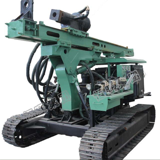 diesel engine wheeled type screw pile driving machine solar pile driver