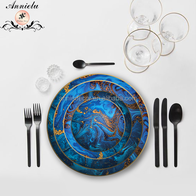 ANNIELU magic dreaming style design dinnerware plates bone china dinnerware set wedding charger plates
