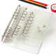 Clear Soft PVC Notebook Cover Protector Round Ring Binder Loose leaf Folder