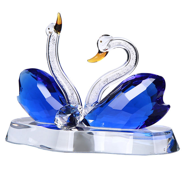Cheap Swan Crystal Gift With Personalized Logo For Wedding Favor