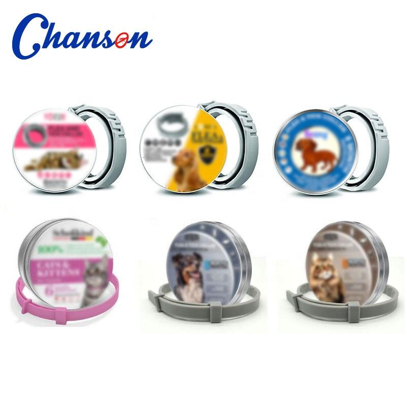 other wholesale products for pet shop silicone rubber anti flea tick dogs and cats collar with tin box OEM logo order