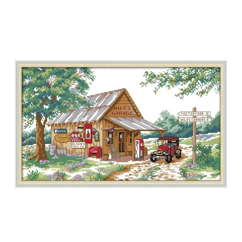 NKF Roadside Gas Station China cross stitch wholesale supplies