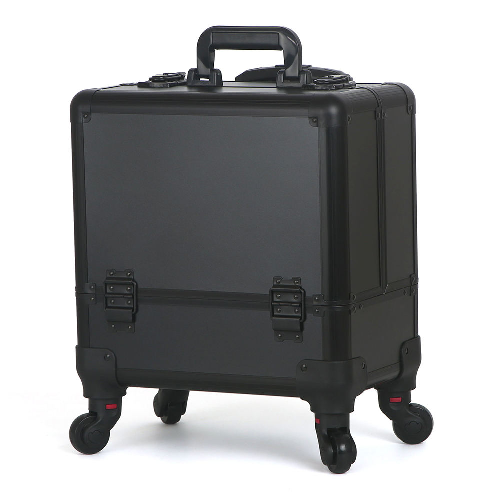 custom professional makeup train case aluminum trolley cosmetic makeup travel case cosmetic train case
