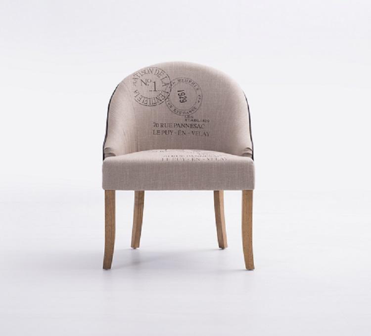 Pintado italiano estilo atractivo cómodo Silla de comedor de madera