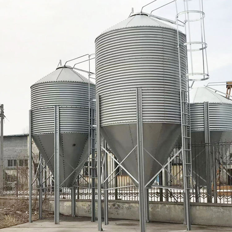 20 tons hot dip galvanized pig chicken feed storage silo for sale