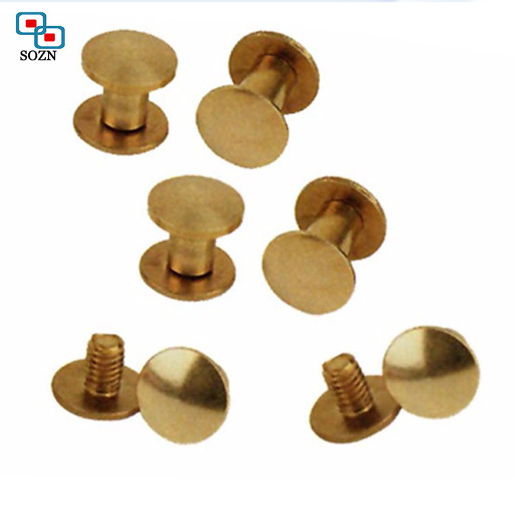 Aluminum/stainless steel /brass male female chicago screw rivet