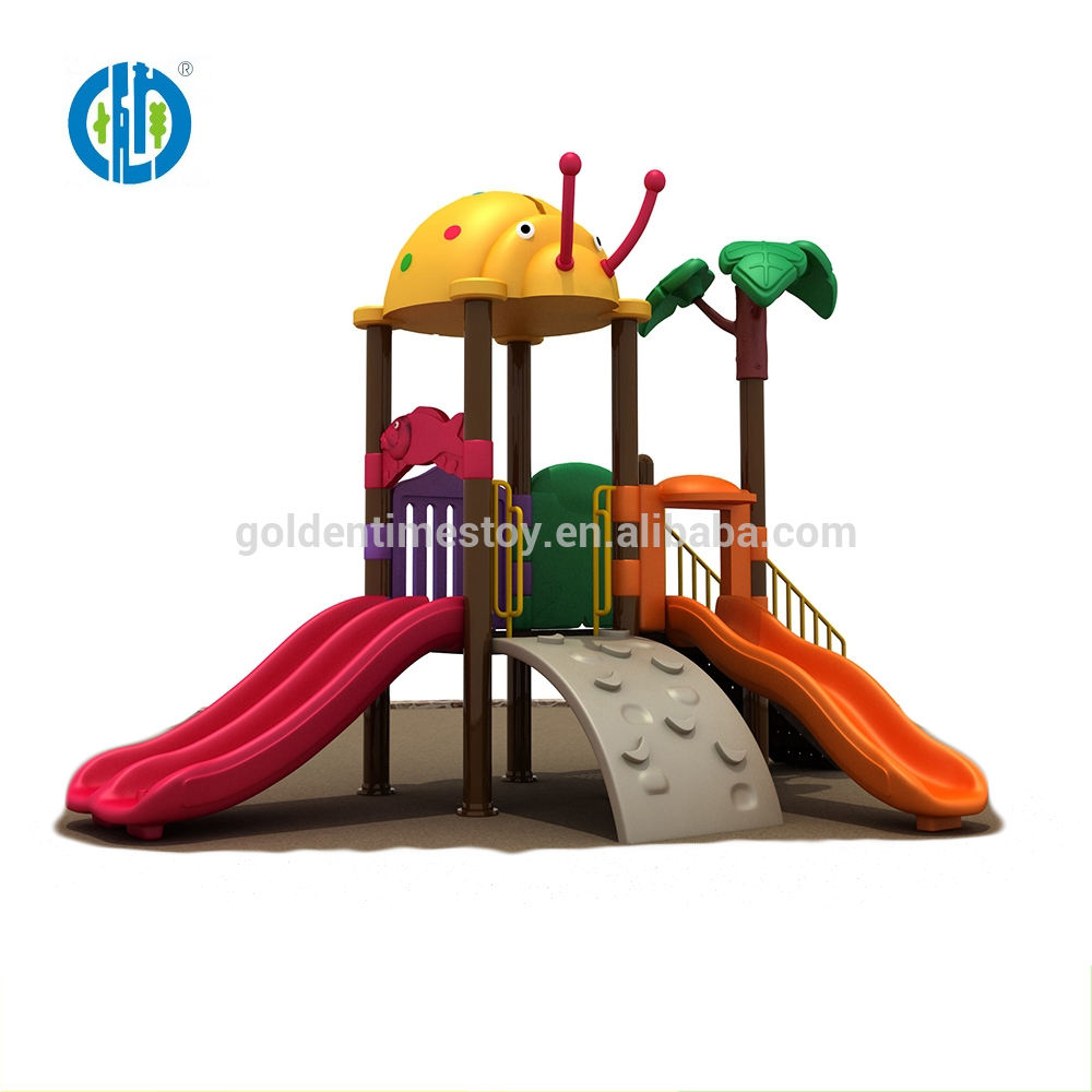 Selling plastic slide children outdoor playground facilities for sale
