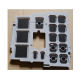 Elastomer Numeric silicone rubber keypad button with Conductive Carbon Pill