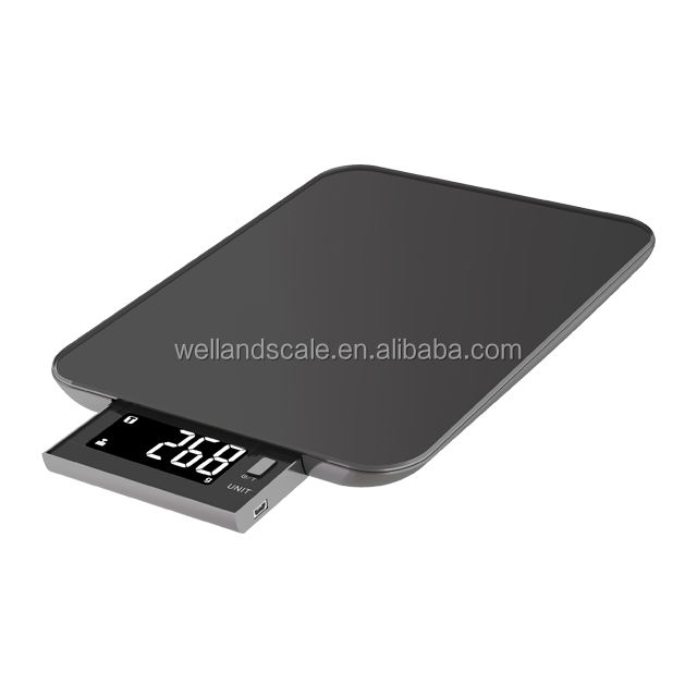 Electronic Kitchen scale waterproof 10KG capacity with glass platform