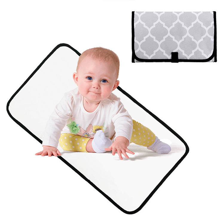 New Infant Baby Deluxe Padded Changing Diaper Mats Soft Waterproof PVC ^F