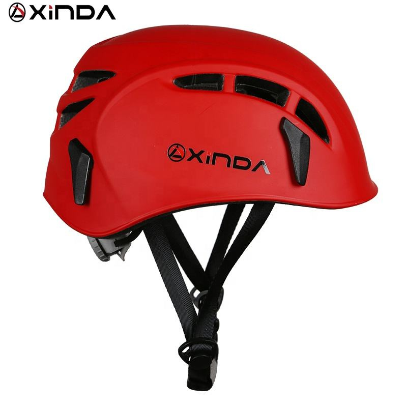 XINDA red ABS CE certified rock climbing helmet