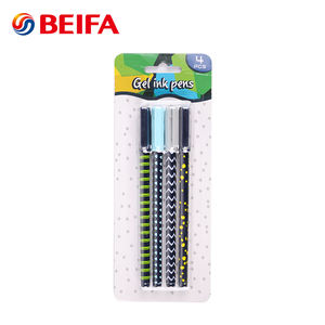 Beifa Student Use Color Gel Pen Sets, Test Good Free Samples Gel Ink Pen Stationery, Gel Pen With Clip