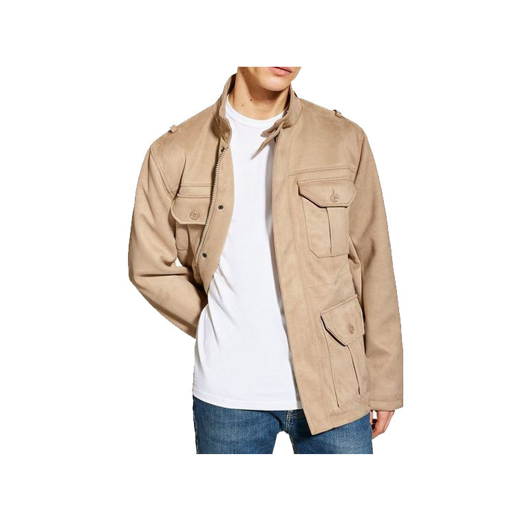 SS Trend Men Custom Faux Suede Field Life Track Jacket
