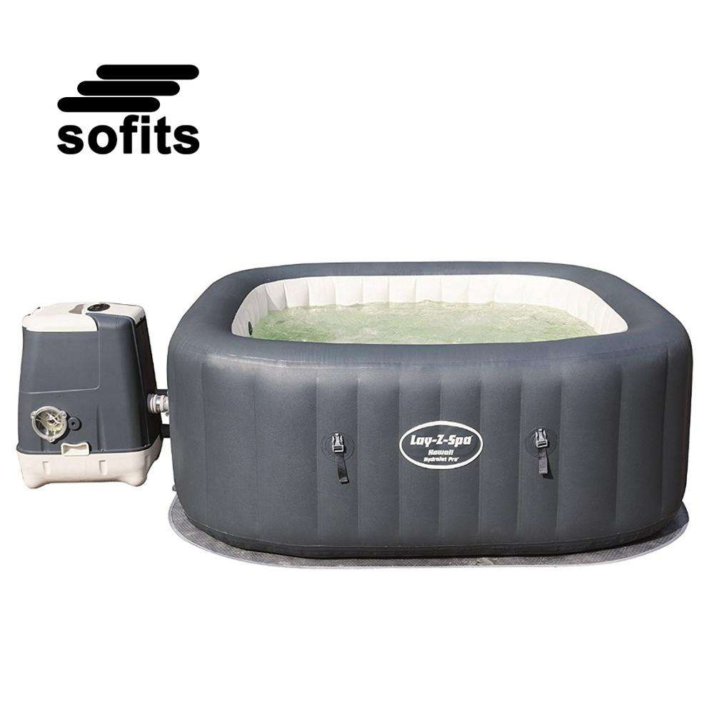 Bestway 54138 Hawaii AirJet 6-Person Portable massager bathtub rectangle inflatable hot tub spa