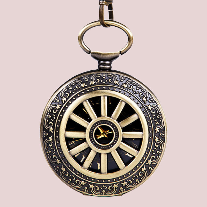 <span class=keywords><strong>En</strong></span> <span class=keywords><strong>laiton</strong></span> et D'or Romatic Calendrier Unisexe Pocketwatch Usine