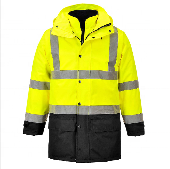 road safety hi visibility 3 in 1 waterproof reflective jacket