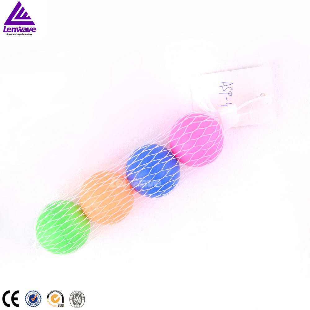 2017 Colorful Inflatable Rubber 4pcs/mini beach ball