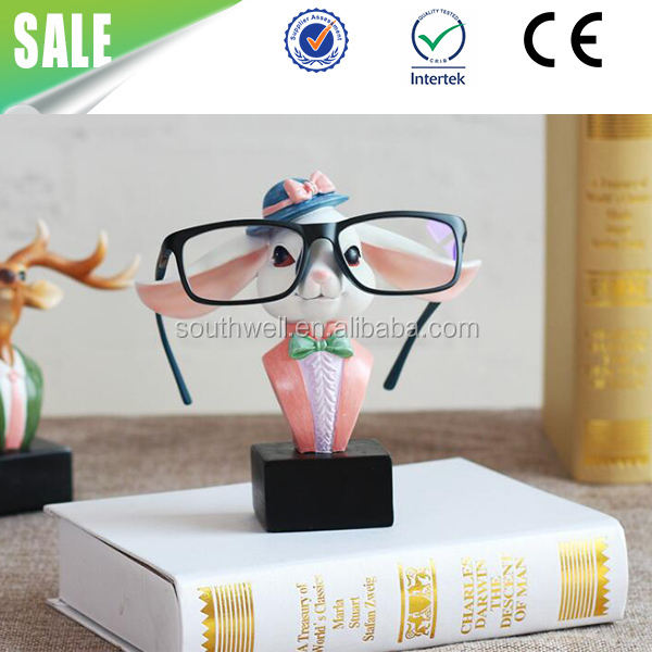 Best Gift Resin Crafts Cute rabbit Animal Eyeglasses Stand Holder