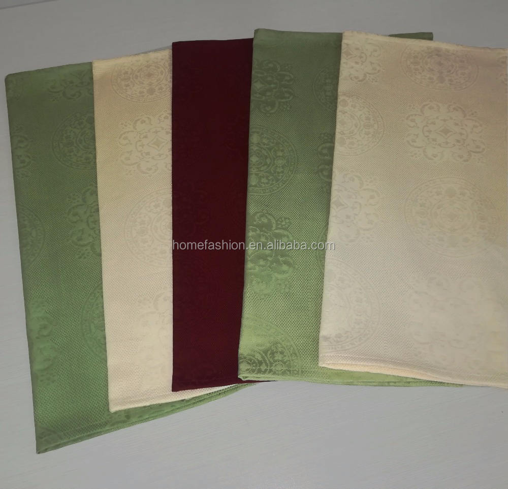 100% cotton green jacquard table napkin,burgundy table napkin,ivory damask napkin