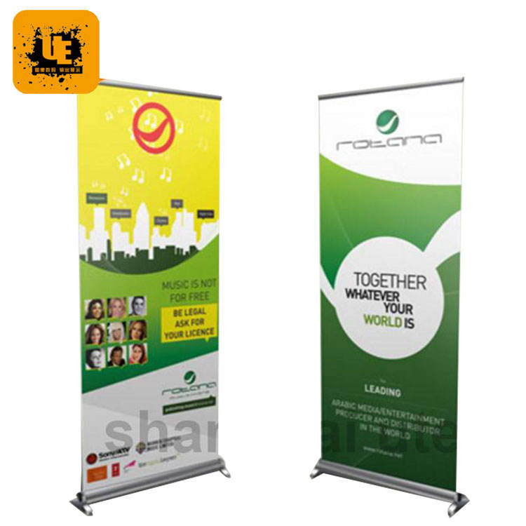 Customized sport event indoor retractable pop up banner stands sign wholesale