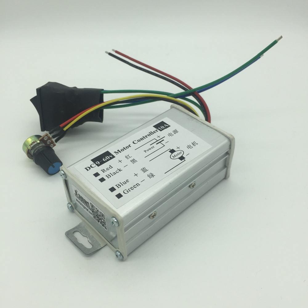 9-60 V 12 V 24 V 36 V 48 V 10 A PWM DC moteur régulateur de vitesse CW CCW réversible Switch