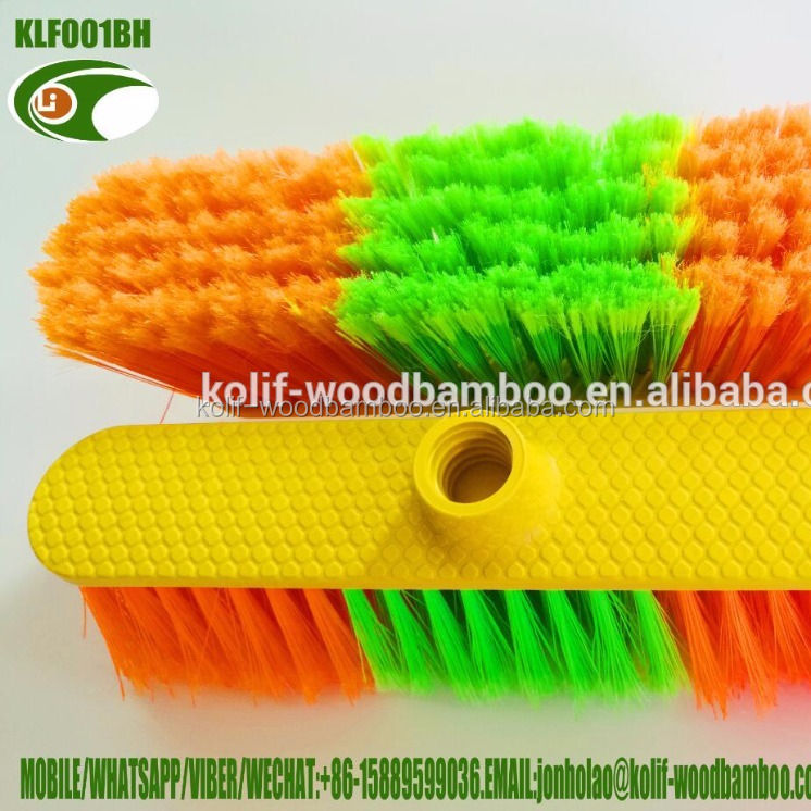 plastic broom head/plastic broom with wooden stick /plastic broom with metal stick(For other designs,please contact us)