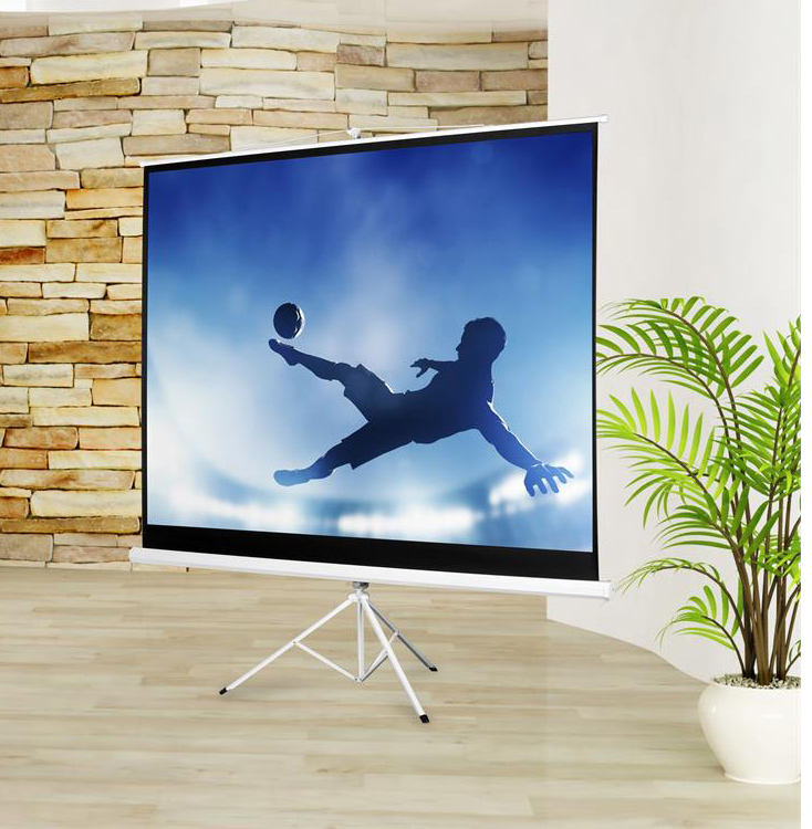 tripod projector screen 100 inch round projection screen