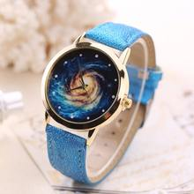 2017 Aliexpress Newest Fashion Multicolor Luxury Galaxy Stars Minimalist Watches For Ladies