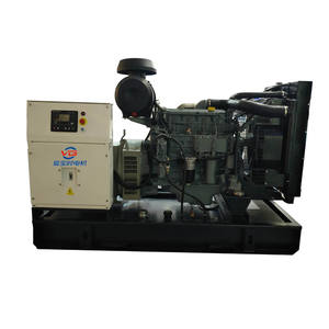 100kw/125kva Deutz Stirling Mesin Generator Mulai Deutz Open Type Diesel Generator