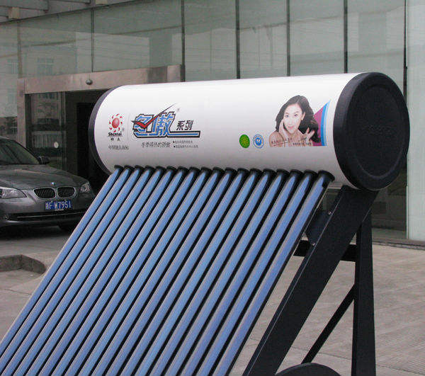 Evacuated Tube Compact Pressurized System Domestic Solar Hot Water with Heat Pipe DAC-300H